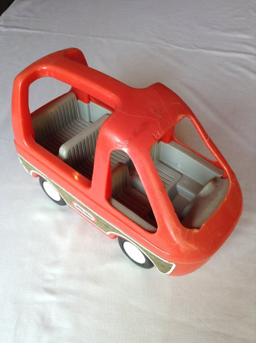 camioneta little tikes coleccion años 80 woody mini van/ suv