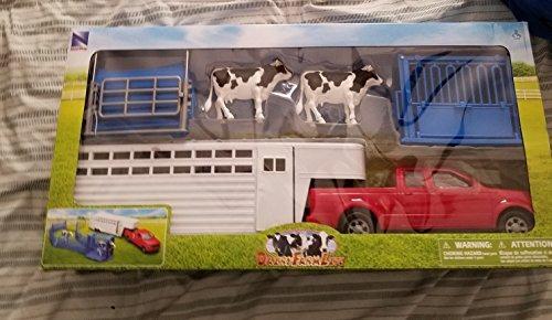 camioneta pickup con criadero de ganado ranch life 1:18