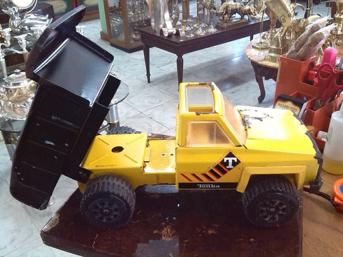 camioneta tonka en hojalata antigua de coleccion