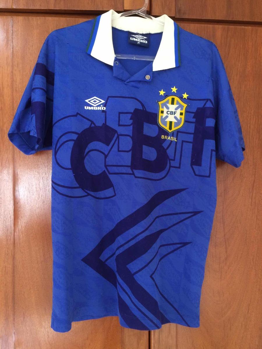 346bdccb2d camisa 2 seleção brasileira brasil cbf azul 1993. Carregando zoom.