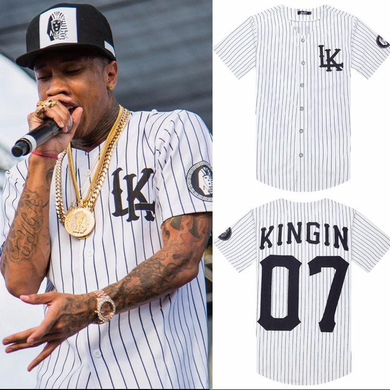 camisa 2018 baseball last kings baseball tyga hip hop cease. Carregando  zoom. 1e763f6cf6f