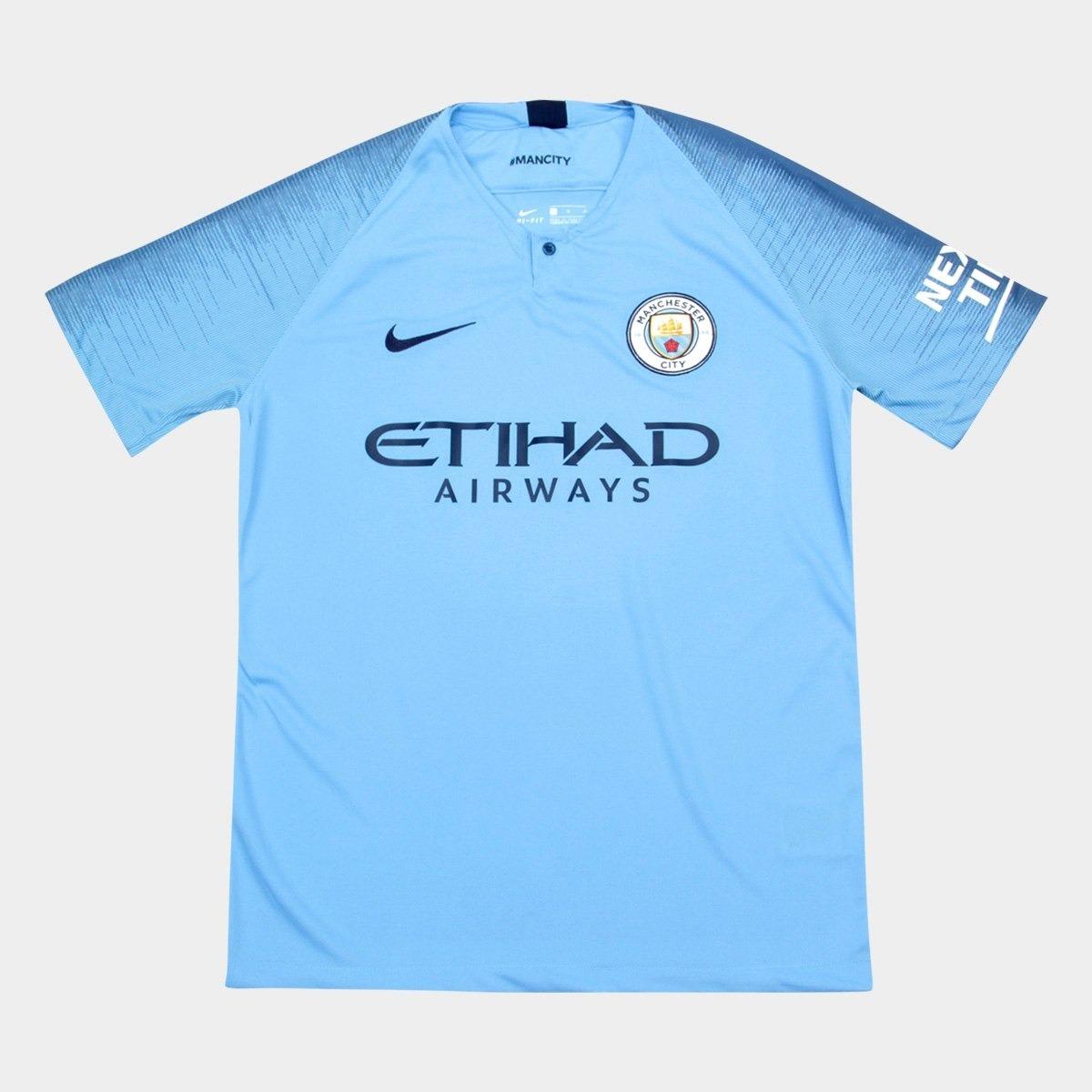 camisa 2018 19 nike manchester-city original frete grátis. Carregando zoom. 4a02d62d3040f