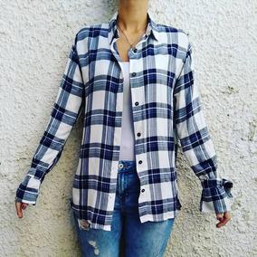 17aa97a8b543 Camisa A Cuadrille Azul Con Ropa Mujer - Camisas en Mercado Libre ...