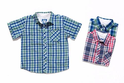 camisa a cuadros para niño