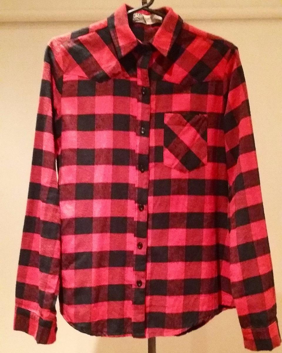 8ebc2674e93a7 camisa a cuadros roja y negra talle m de mujer. Cargando zoom.