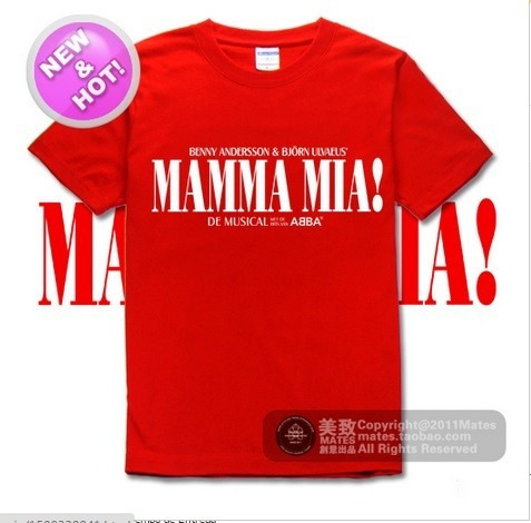 camisa abba mamma mia vermelha masculina banda pronta entreg
