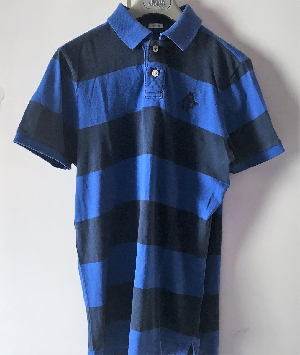 camisa abercrombie e fitch gola polo azul 2 tons l. Carregando zoom. 3e7244362dec4