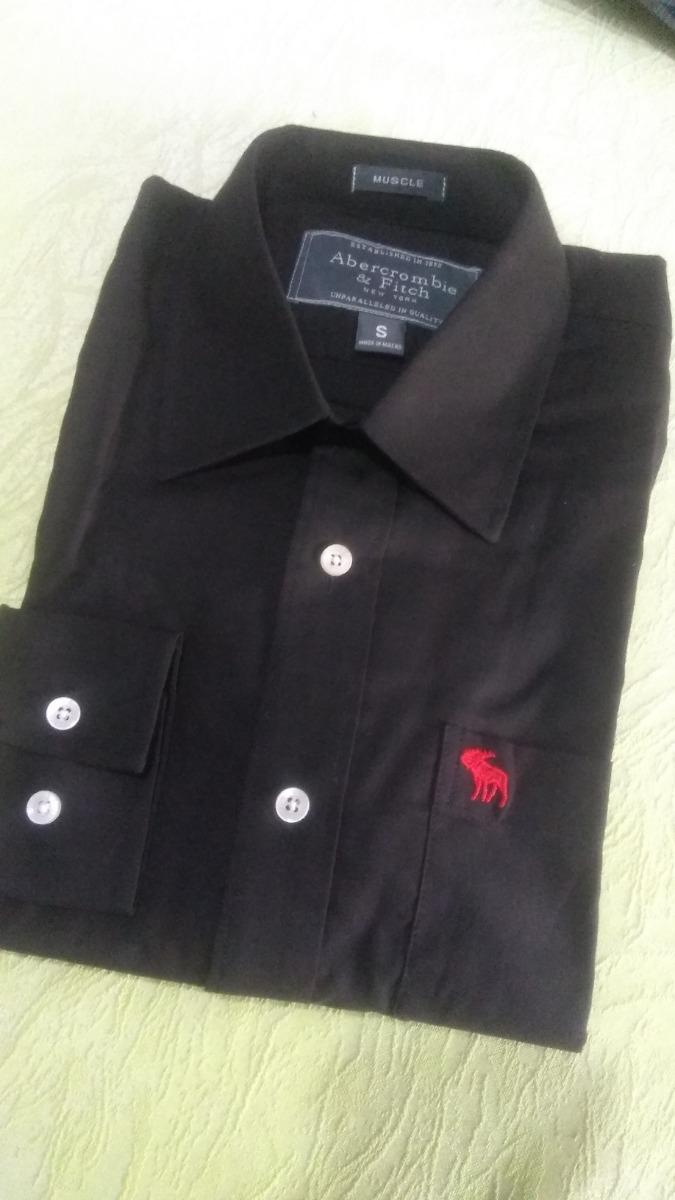 fc5591c66a189 Camisa Abercrombie Fitch Masculina Preta Pronta Entrega - R  149