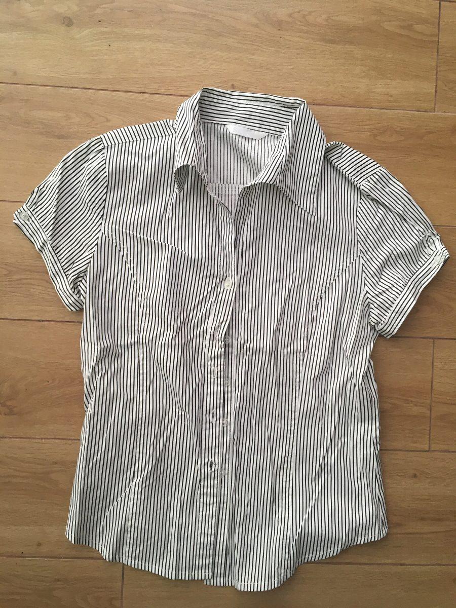 mujer negra rayas talla blanca zoom Cargando camisa m abotonada con silmar  8HqIIZ d6560d4ab130d