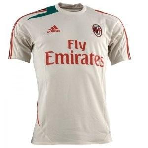 camisa ac milan adidas f50 treino 2012-2013 creme