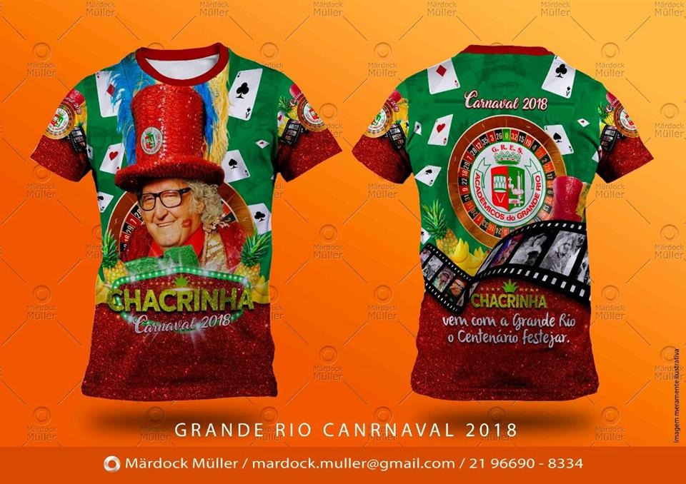 camisa academicos do grande rio 2018 chacrinha oficial. Carregando zoom. f60fc59ee3760
