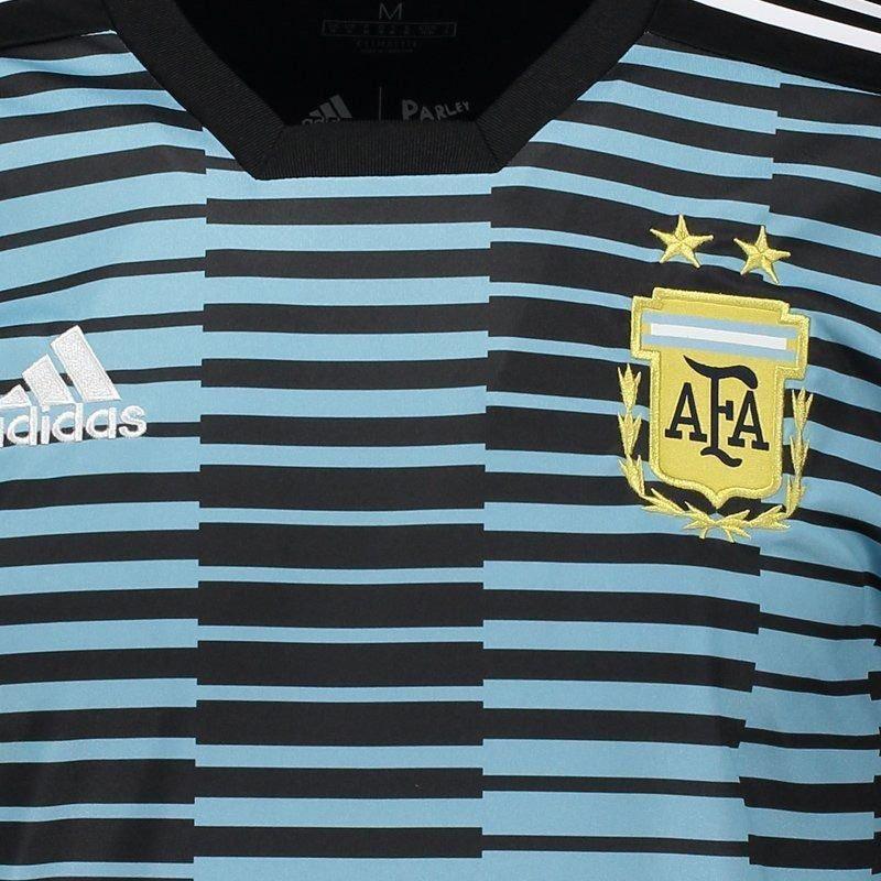 camisa adidas argentina 2018 pré jogo. Carregando zoom. f5ea13e9d10ef