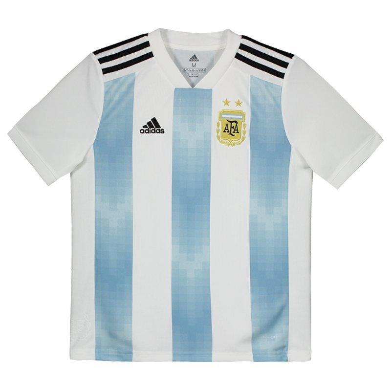 b8a1e69fb Camisa adidas Argentina Home 2018 Juvenil - R  189