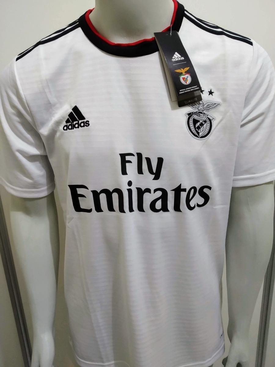 camisa adidas benfica away 2018 19 branca torcedor - oficial. Carregando  zoom. a94034cead7c8