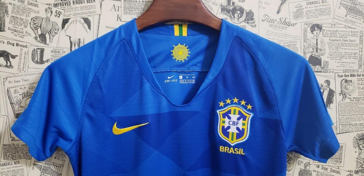 689df45d2d camisa adidas brasil azul feminino 2017 18 torcedor. Carregando zoom.