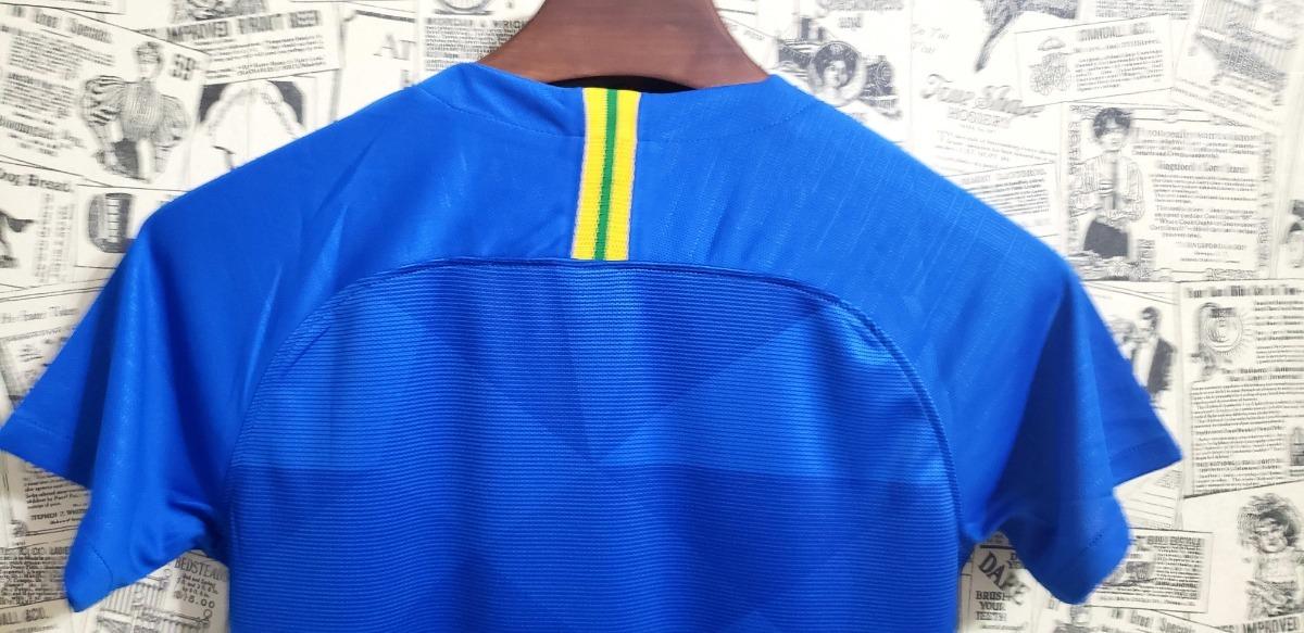 ab7a8217a0f camisa adidas brasil azul feminino 2017 18 torcedor. Carregando zoom.