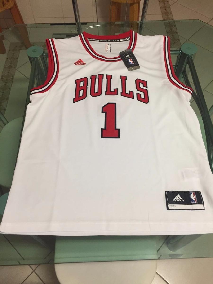 76e10ae9188cf camisa adidas  chicago bulls rose n1 nba - branca - original. Carregando  zoom.