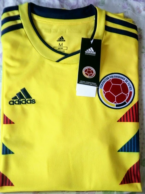 1131522f16 Camisa adidas Colômbia Home Oficial Copa Da Russia 2018 - R  120