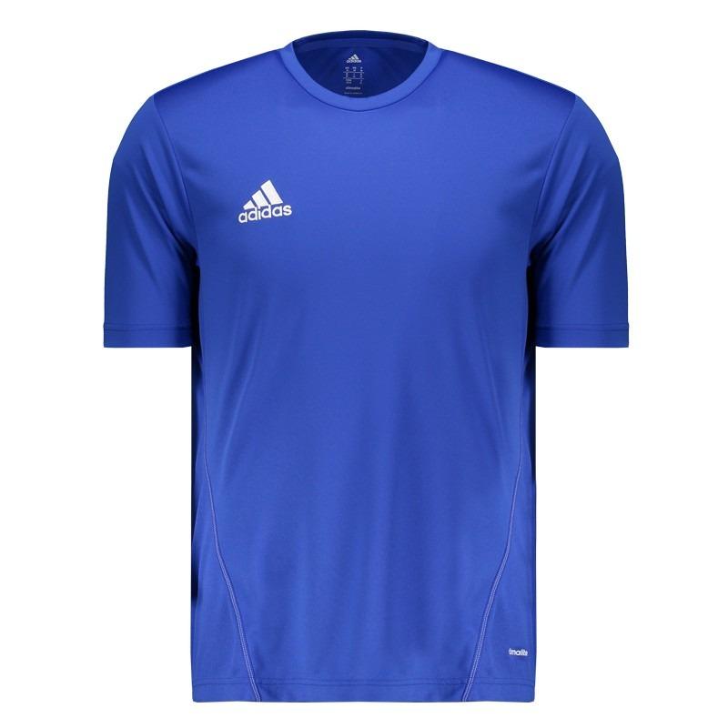 camisa adidas core 15 treino azul. Carregando zoom. 0949fd3c8bcd7