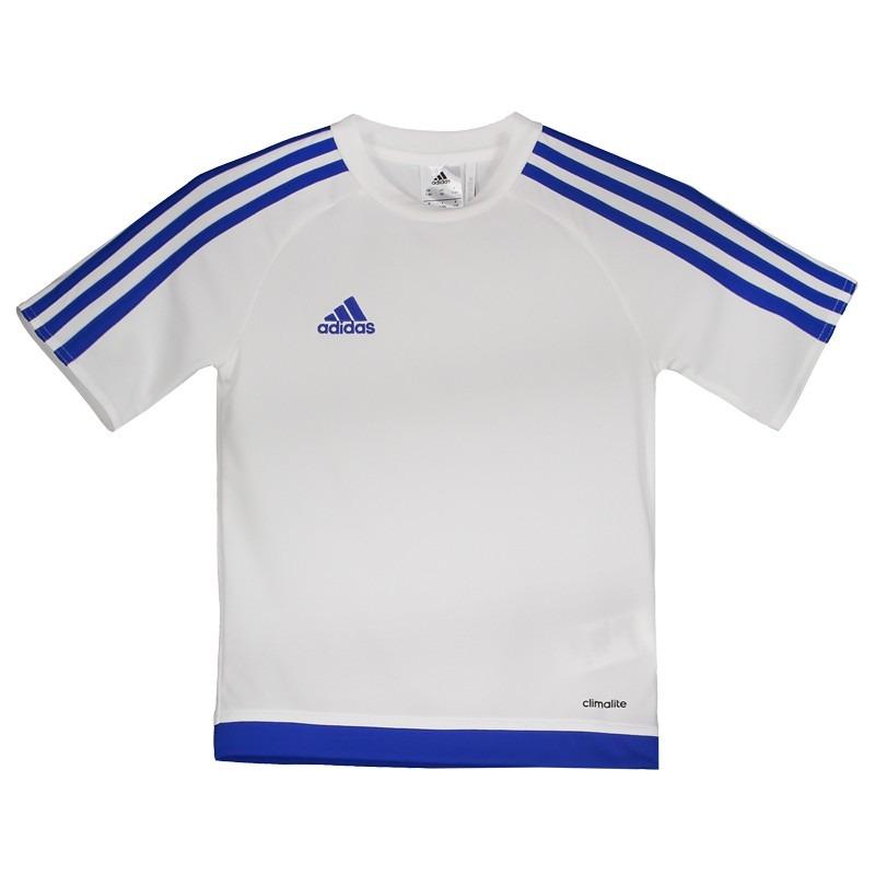 6ee8a81423 Camisa adidas Estro 15 Juvenil Branca - R$ 44,90 em Mercado Livre
