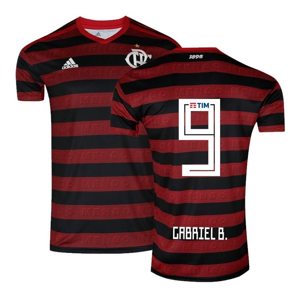b262552974 Camisa adidas Flamengo 1 Home 2019/2020 Gabriel 9 Original - R$ 155 ...