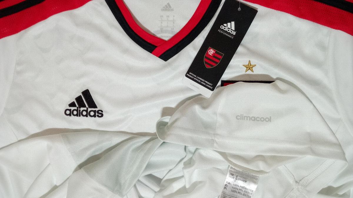 camisa adidas flamengo 2014   2015 branca frete grátis. Carregando zoom. ac40b8d54f95f