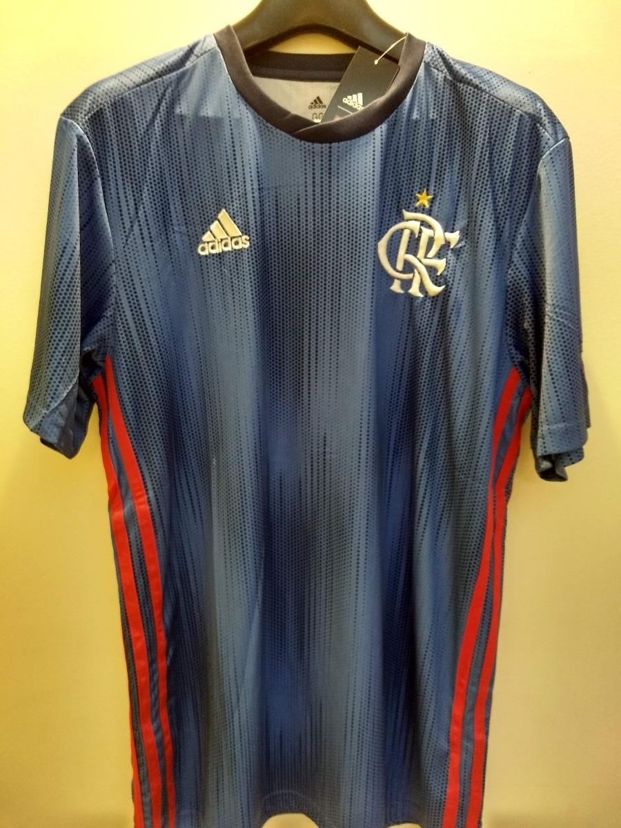 ... CR Flamengo 1 Feminina SCARLET BLACK CF9017  01a50a497f7 Camisa adidas  Flamengo Azul Oficial Torcedor 18 19 - R 139 17f7fc4197332