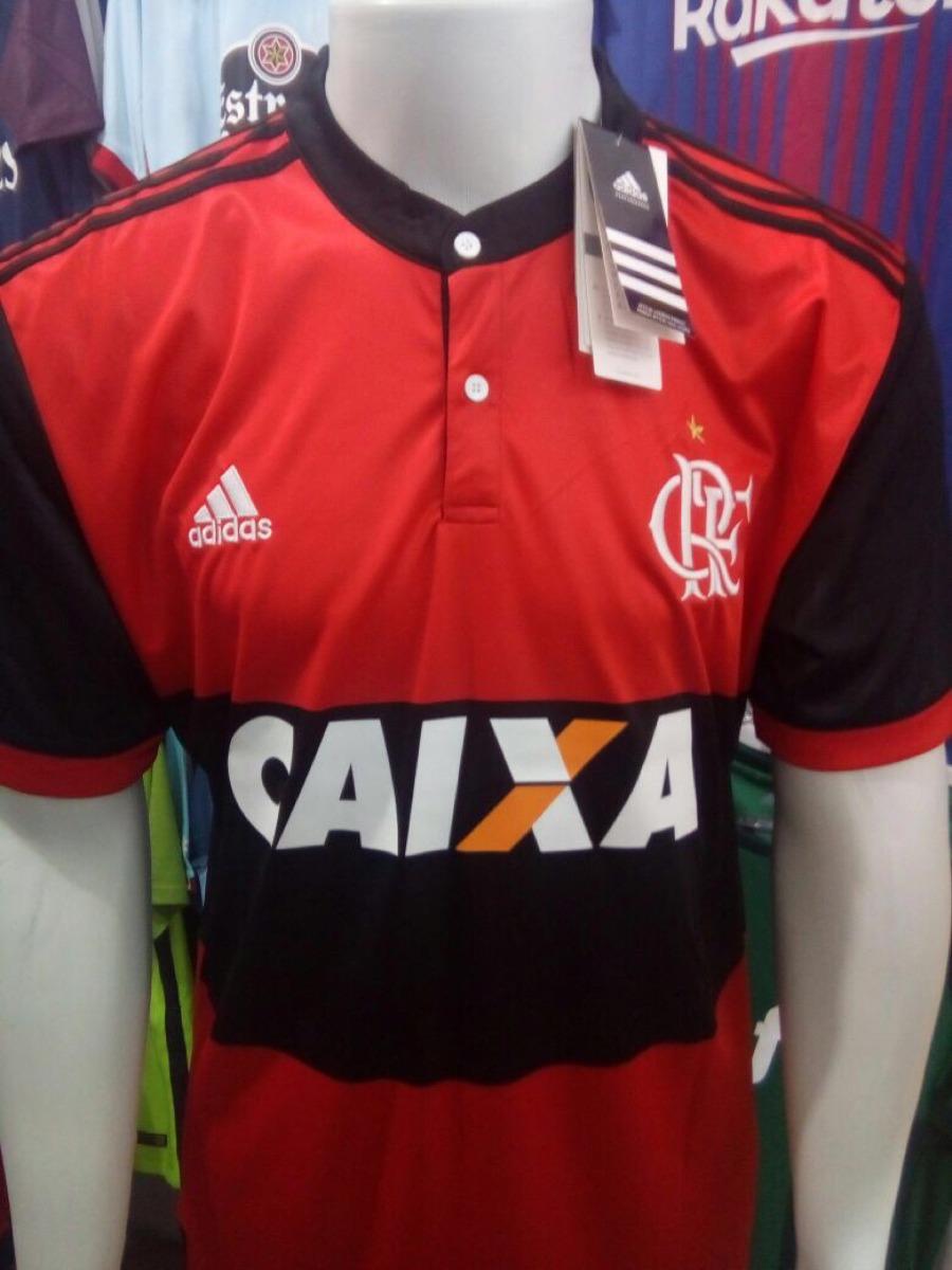 camisa adidas flamengo home 17 18 s n° - vermelho e preto. Carregando zoom. 89c37fd17c247
