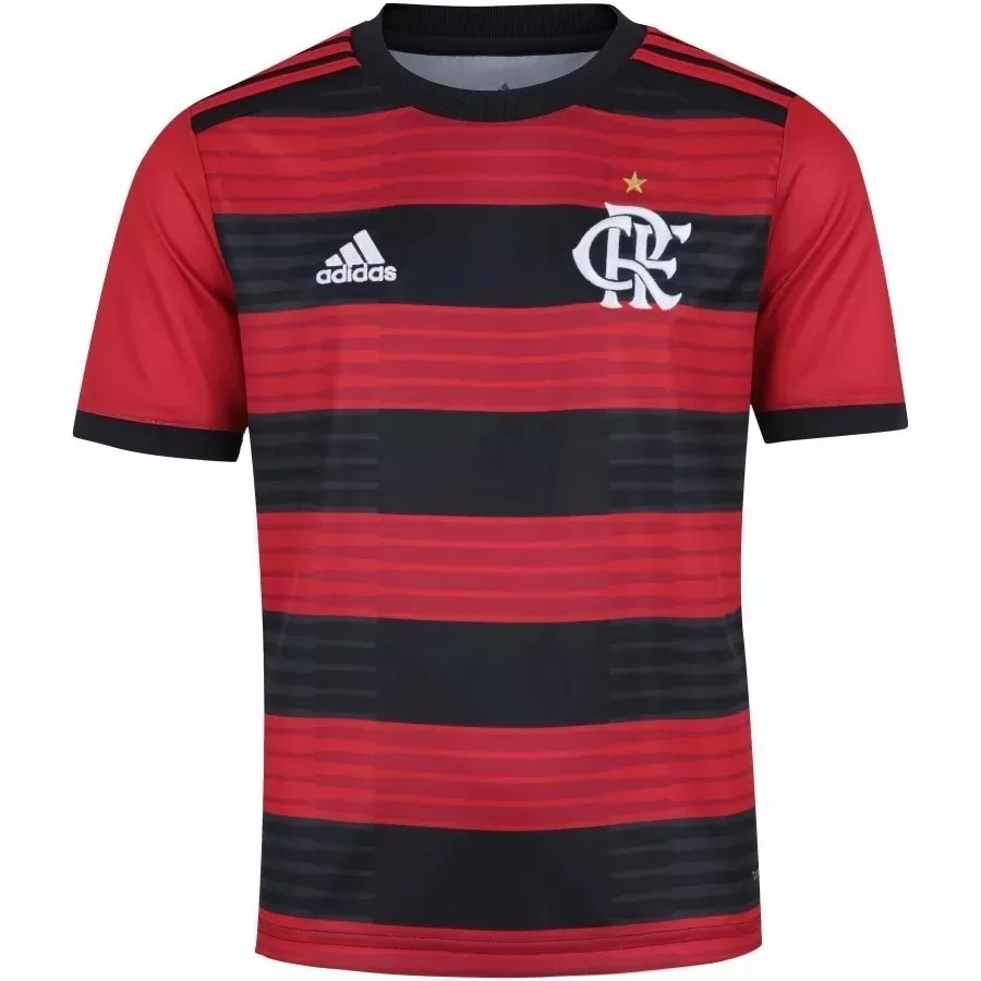 camisa adidas flamengo home 2019 rubro negra - original. Carregando zoom. 9bee8733de0a5