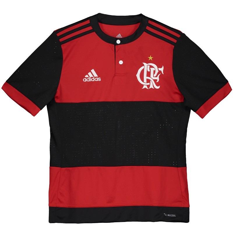 camisa adidas flamengo i 2017 juvenil. Carregando zoom. e189447e3852c