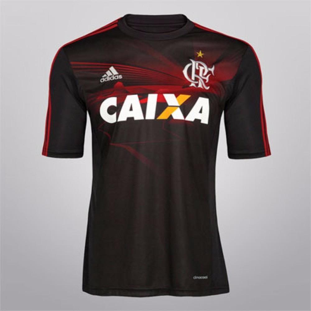 af2786f3eee43 camisa adidas flamengo oficial jogo 3 preta e vermelha. Carregando zoom.