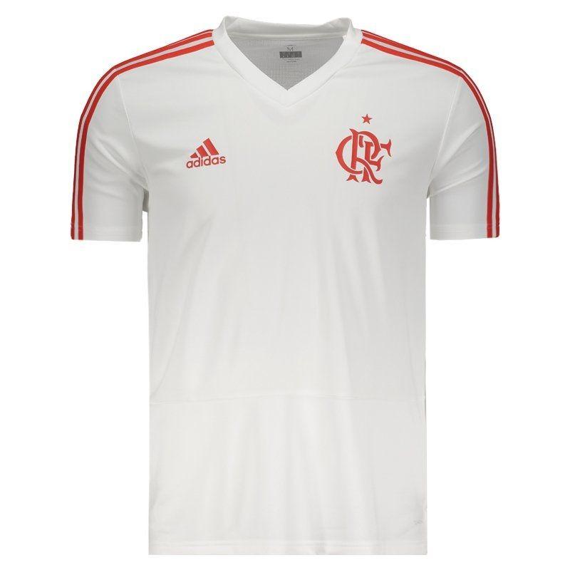 camisa adidas flamengo treino branca e vermelha. Carregando zoom. af9d58d8d702a