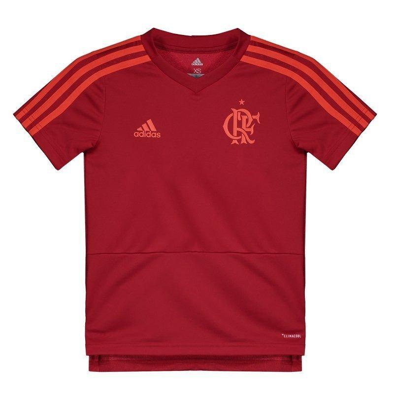 camisa adidas flamengo treino juvenil vermelha. Carregando zoom. 1fb0039901755