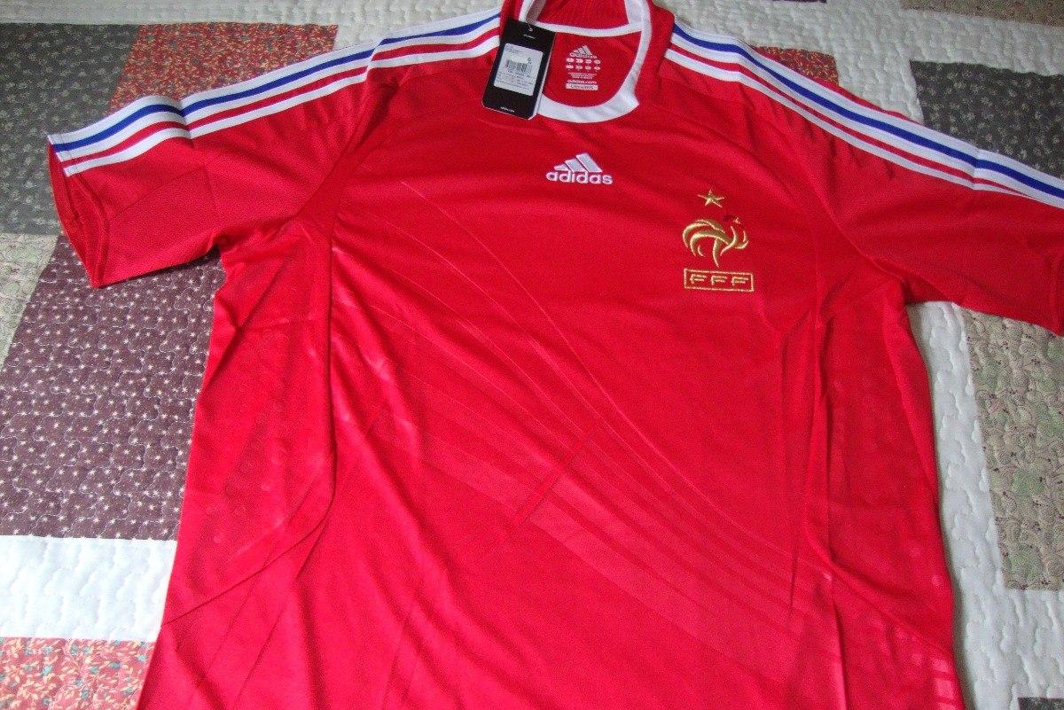 camisa adidas frança 2 2007-2008 s nº. Carregando zoom. a4f30dc312639