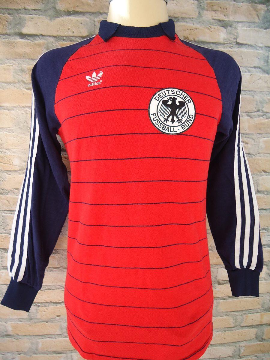 2474b0478143f camisa adidas futebol shirt alemanha goleiro schumacher 1982. Carregando  zoom.