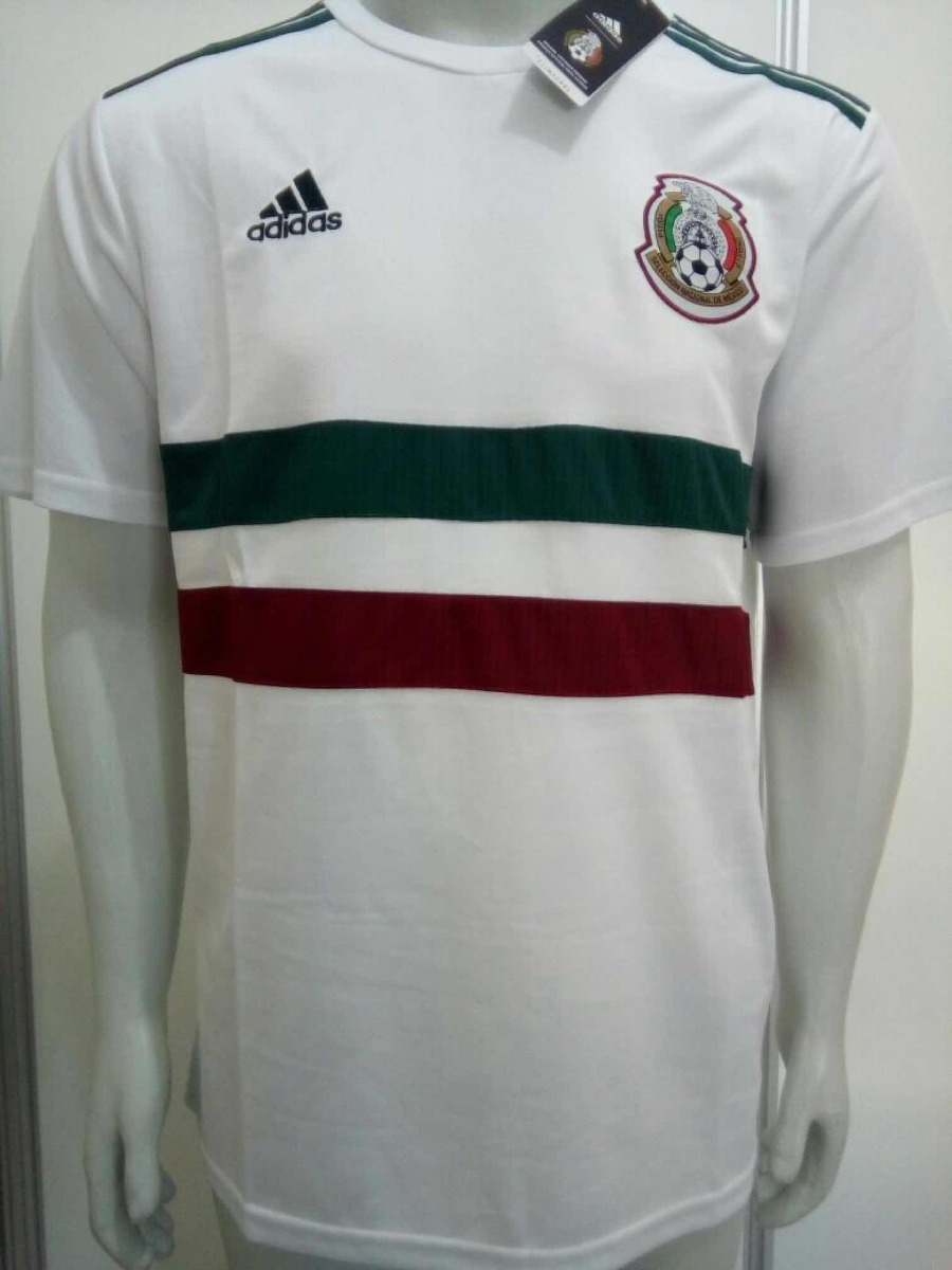 camisa adidas méxico away copa da rússia 2018 oficial branca. Carregando  zoom. d3ad1931c7af0