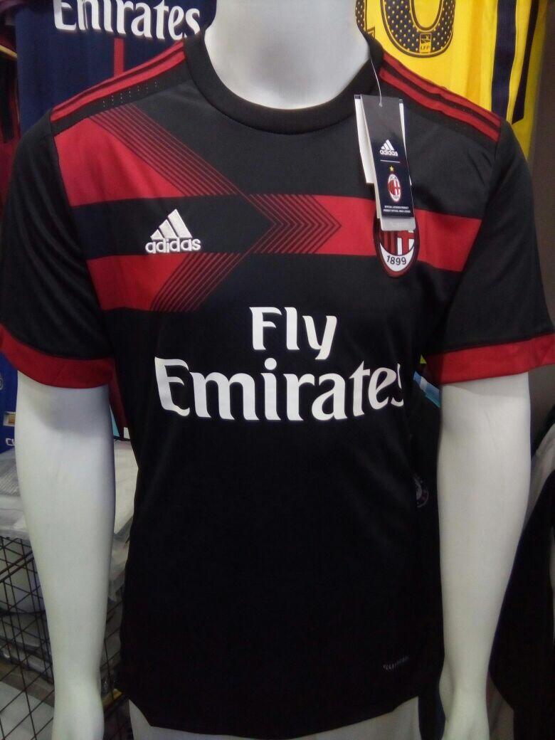 camisa adidas milan third 2018 s nº torcedor preta vermelha. Carregando  zoom. 7aca55ef4a3db