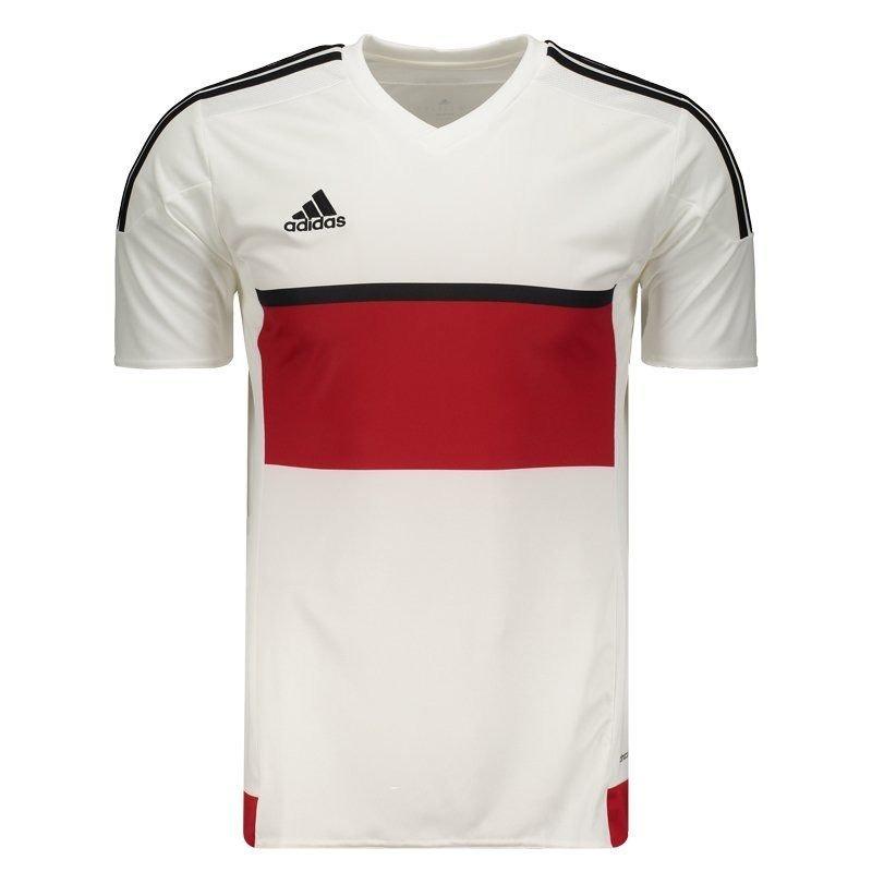 b57ad1ba45ecf camisa adidas molin 16 branca e vermelha. Carregando zoom.