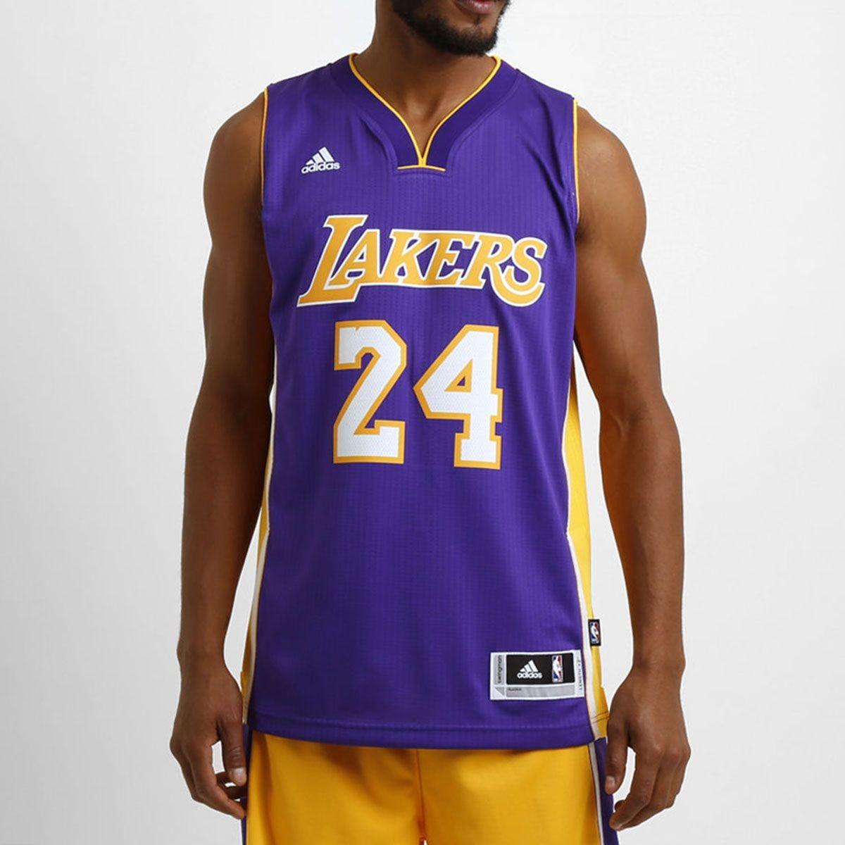 the best attitude f2fb5 75451 Camisa adidas Nba Swingman Los Angeles Lakers 24 Kobe Briant