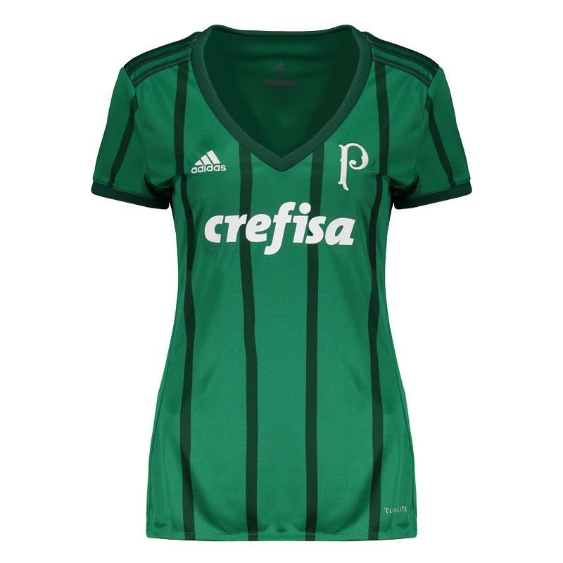 camisa adidas oficial palmeiras i 2017 - feminina - f.grátis. Carregando  zoom. c45d44889efed