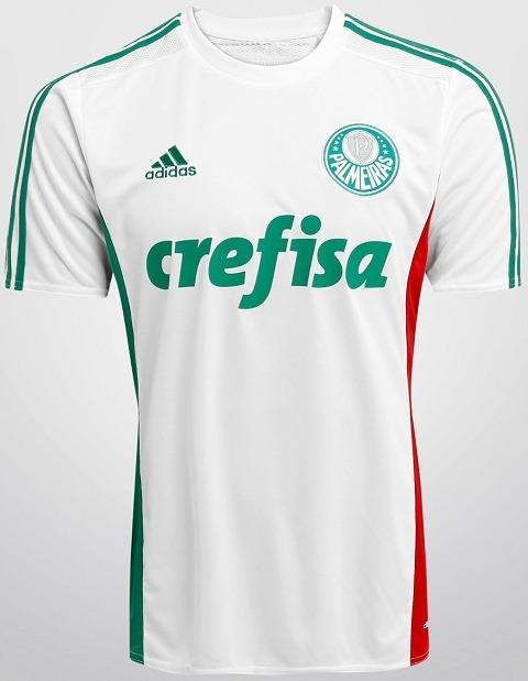 6eca8f2c57cac Camisa adidas Palmeiras 2 Infantil 2015 Branca - R  149