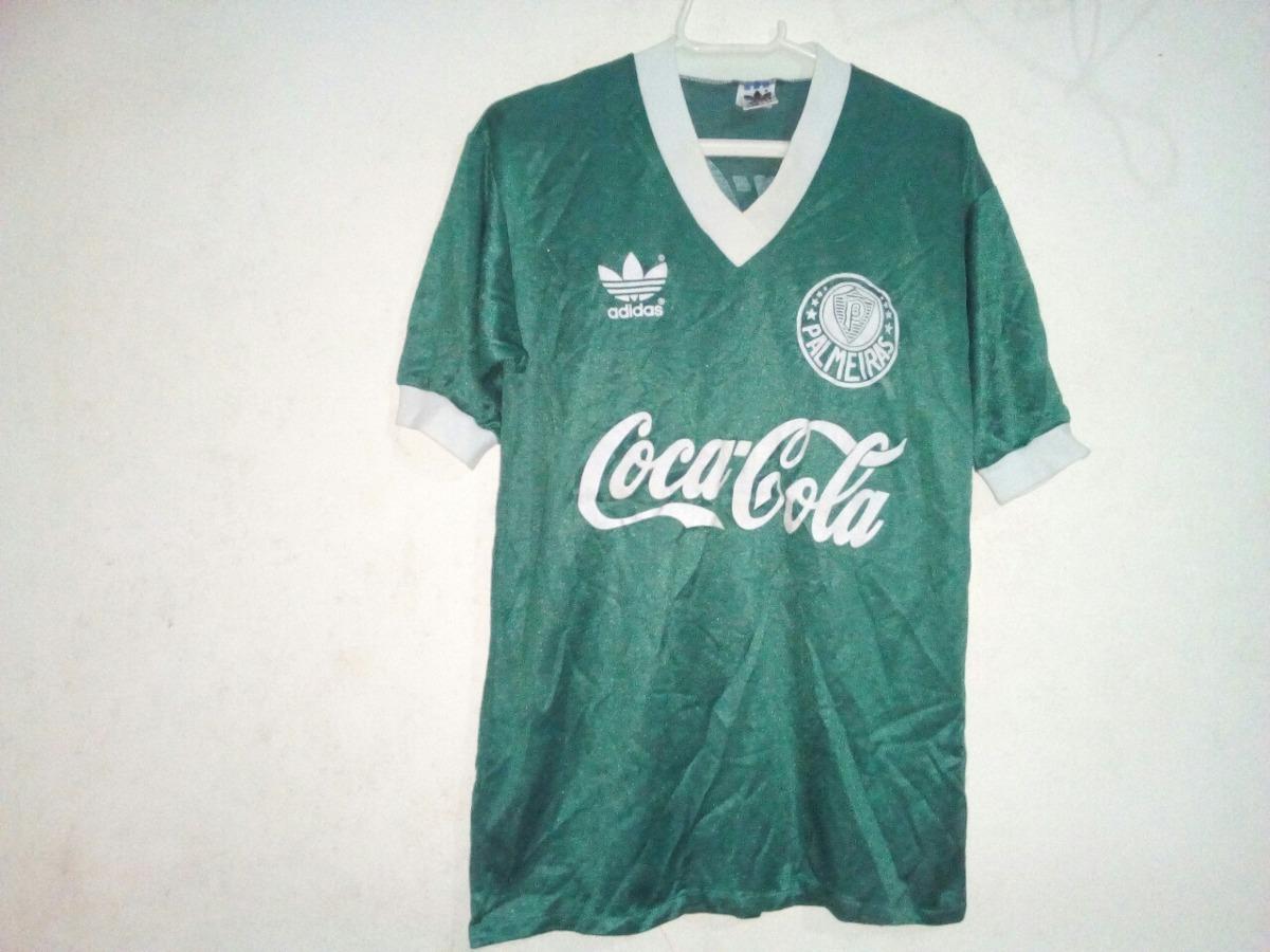 4f53937ff4308 Camisa adidas Palmeiras Coca Cola Anos 80 - R  2.500
