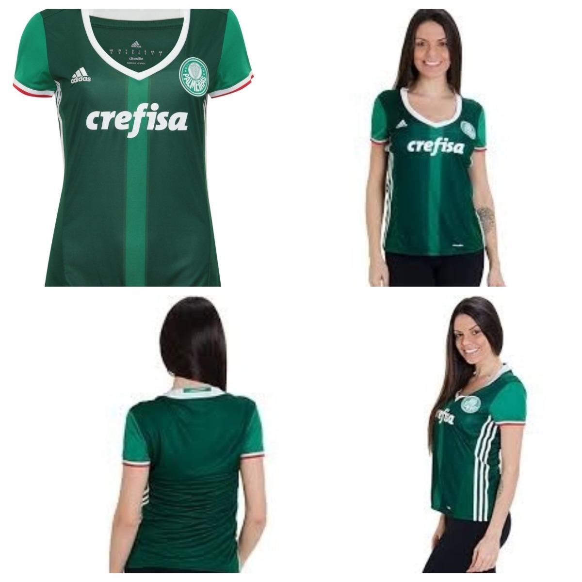 9da73dd6da655 Camisa adidas Palmeiras Oficial I 16 Feminina
