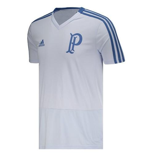 camisa adidas palmeiras treino 2018 azul clara