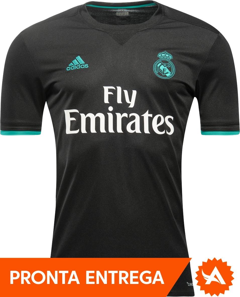 camisa adidas real madrid cristiano ronaldo 2018 cr7 preta. Carregando zoom. 249bb51f2d080