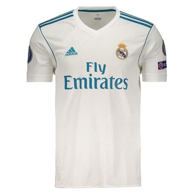 b2bad148cf366 Camisa adidas Real Madrid Home 2018 Ucl Com Patch Fifa - R  239