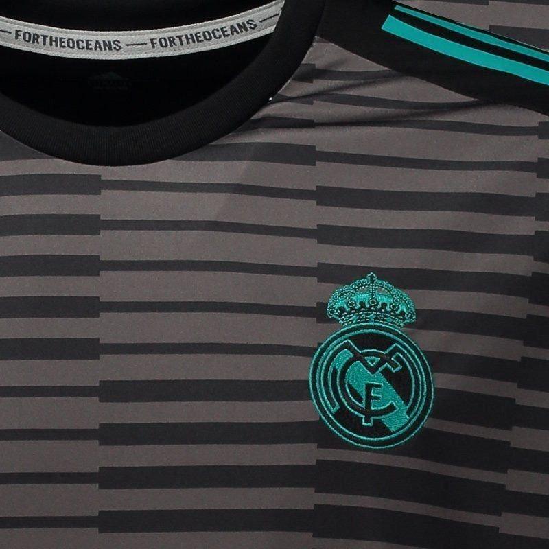 4022c12bbc camisa adidas real madrid pré jogo 2018 preta. Carregando zoom.