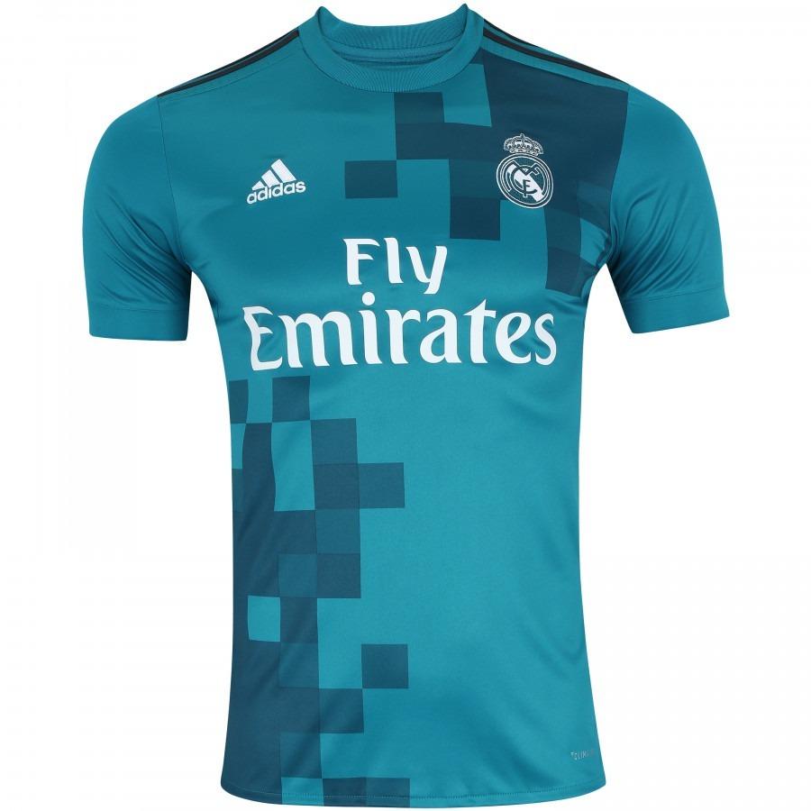 fb38884ea camisa adidas real madrid third 2018 s nº - azul. Carregando zoom.