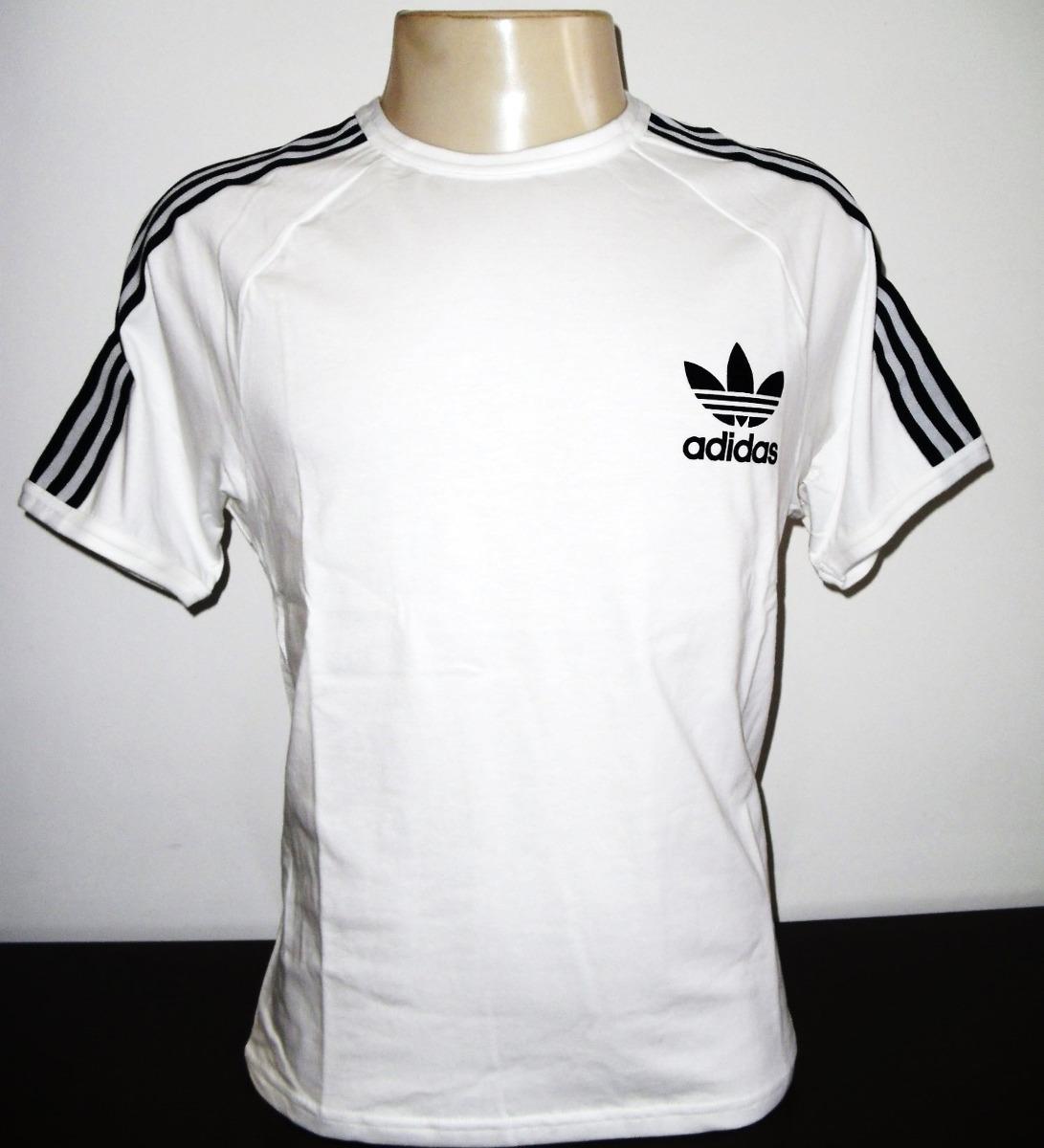 6b3fe1f3038 Camisa adidas Retro Vintage Branca Originals Pronta Entrega - R  59 ...