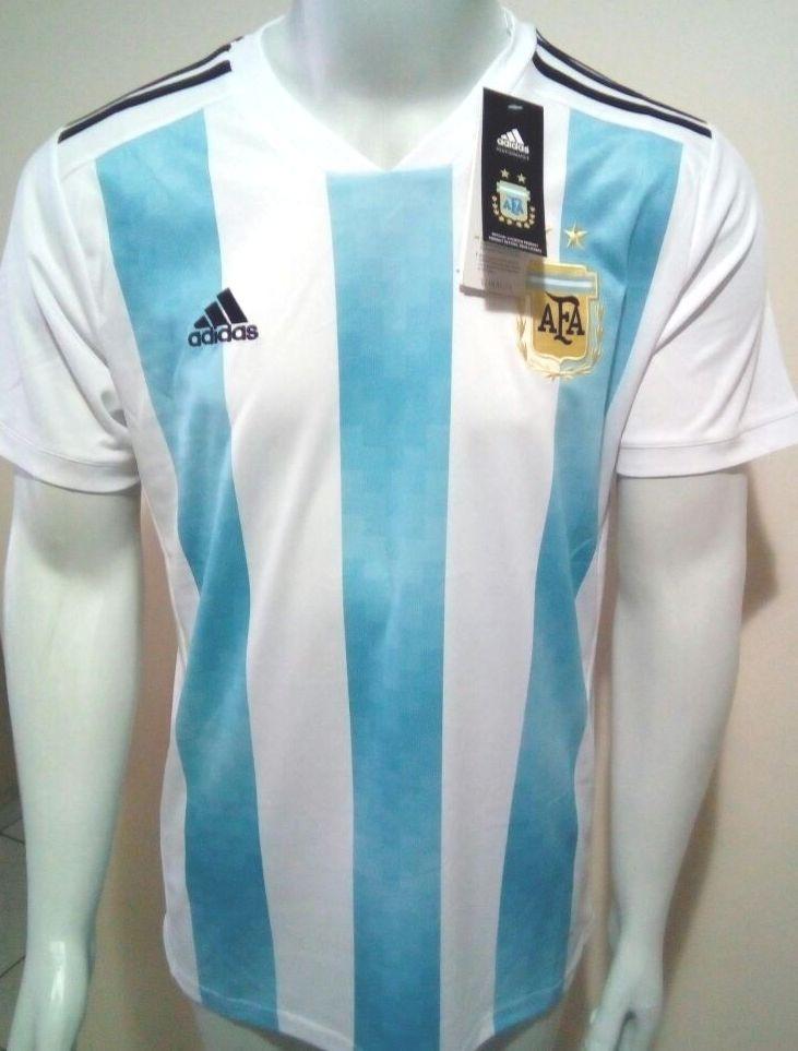 44b44ff9592d1 camisa adidas seleção argentina home copa 2018 oficial-azul. Carregando  zoom.